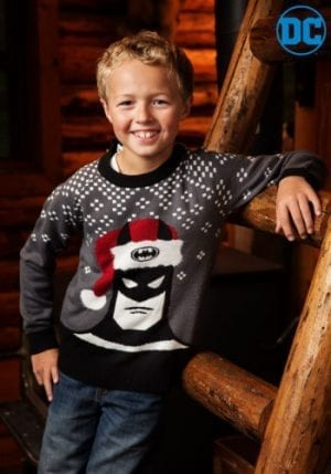 Batman Holiday Hat Ugly Christmas Sweater