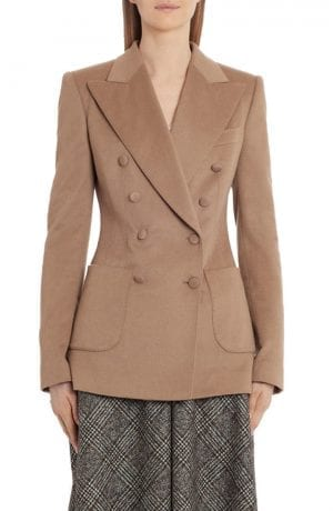 Dolce & Gabbana Double Breasted Cashmere Jacket (Camel)