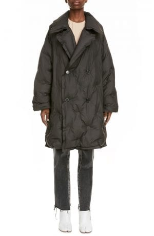 Maison Margiela Oversize Quilted Coat (Black)