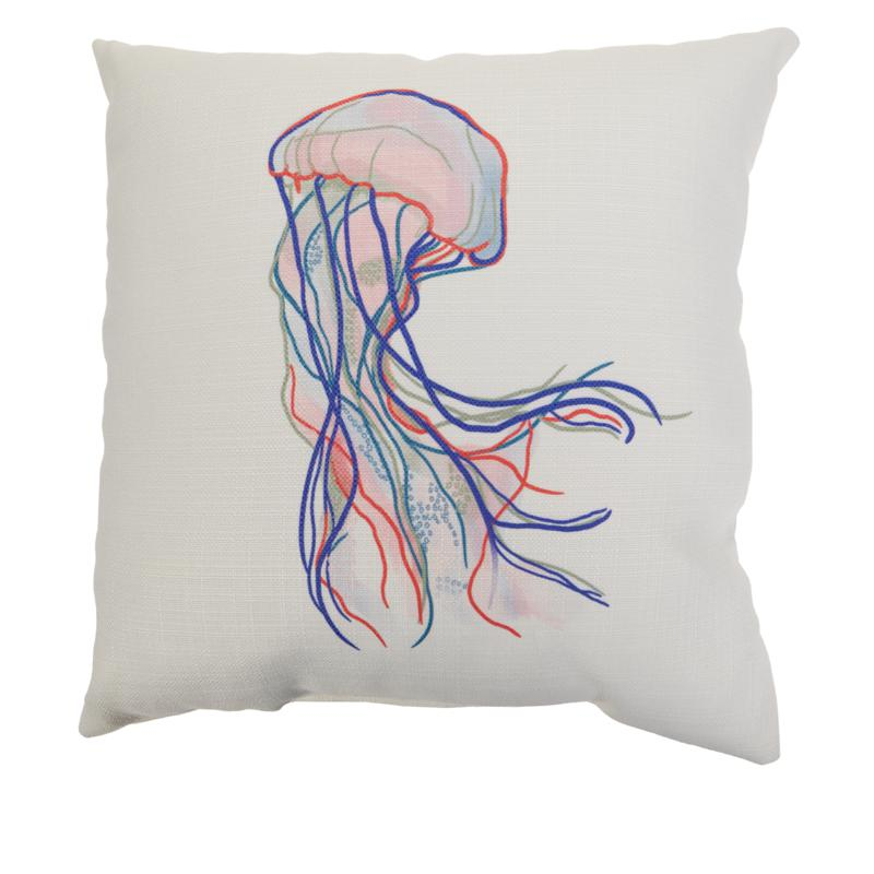 Sewing Down South Waterlife 20″ x 20″ Pillow (Solo Jellyfish)
