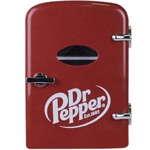 Dr. Pepper MIS135DRP Portable 6-Can Mini Fridge