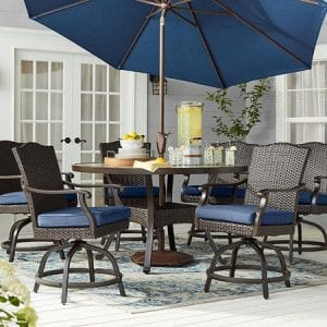Member's Mark Agio Heritage 7-Piece Balcony-Height Patio Dining Set