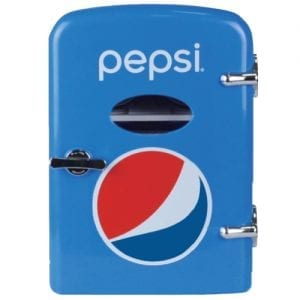 Pepsi MIS133PEP Portable 6-Can Mini Fridge
