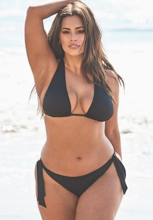 Ashley Graham Elite Triangle Bikini Set (Black)