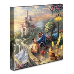 Thomas Kinkade Beauty and the Beast Falling in Love Gallery Wrapped Canvas Art