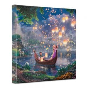 Thomas Kinkade Studios Disney Tangled Gallery Wrapped Canvas Art