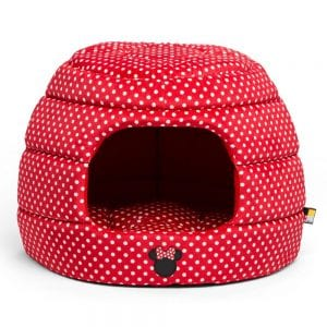 Disney Minnie Mouse Honeycomb Hut Pet Bed (Red)