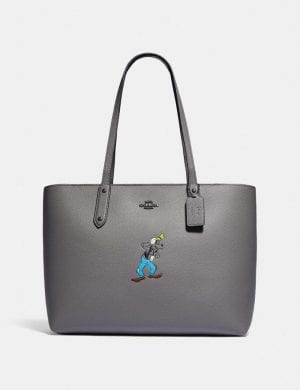 Disney X Coach Central Tote With Zip With Goofy Motif