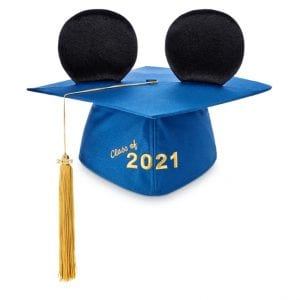 Disney Mickey Mouse Ear Hat Adult Graduation Cap (Class of 2021)