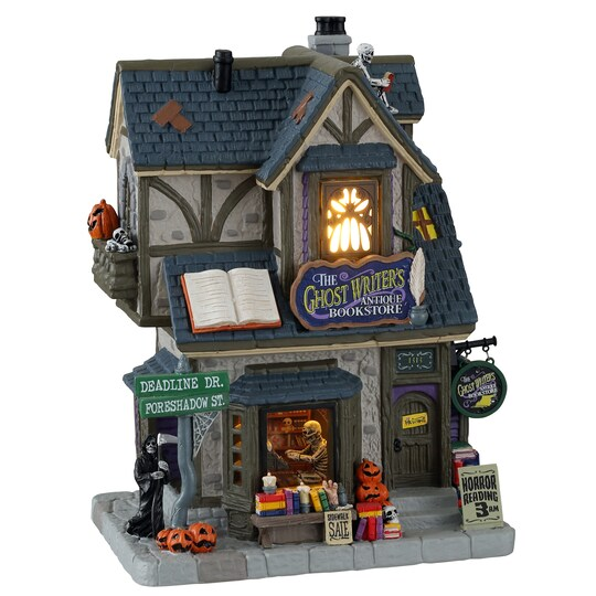 Lemax® Spooky Town® The Ghost Writer's Antique Bookstore