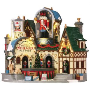 Lemax Ludwig's Wooden Nutcracker Factory Christmas Village Building
