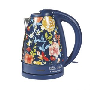The Pioneer Woman Fiona Floral Blue 1.7-Liter Electric Kettle (40971)